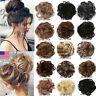 Natural Human Curly Messy Bun Hair Elastics Piece Scrunchie Updo Fake Hair