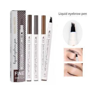 Waterproof Drawing Makeup Eyebrow Eye Brow Eyeliner Pen Pencil Brush Cosmetic