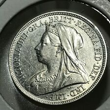 1894 GREAT BRITAIN SILVER SHILLING NEAR UNCIRCULATED COIN