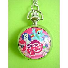 My Little Pony Girl Child Kids Fashion Pocket Pendant Necklace Watch NEW