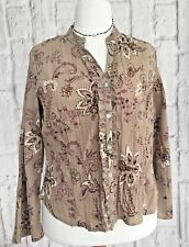Wallis Women's Blouse Size 20 Top Plush Pink Floral L/Sleeve Ruffle Work Casual