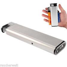 XXL Alu Elektronik Gas Feuerzeug Lighter mit Led @ 2 Stück zum Sparpreis