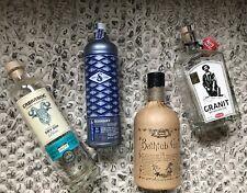 4x Leere Gin Flaschen zum Basteln Deko Vase Cabraboc Granit Bavarian Gin Bathtub