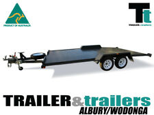 "16x6'6"" CAR CARRIER BEAVER TAIL SEMI FLAT TOP TANDEM TRAILER -T&t Albury/Wodonga"