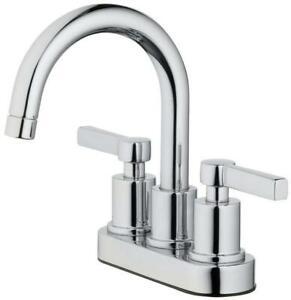 OakBrook 67703W-6101 Verona Two Handle Lavatory Pop-Up Faucet Chrome