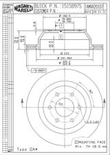 Disc Brake Rotor Rear Magneti Marelli 1AMVR20107