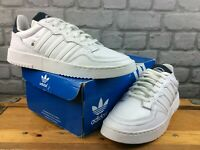ADIDAS ORIGINALS MENS UK 9 EU 43 1/3 SUPERCOURT WHITE  NAVY LEATHER TRAINERS C