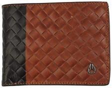 2018 NWT MENS NIXON CAPE SE BI-FOLD WALLET $50 Black/ Brown 100% leather