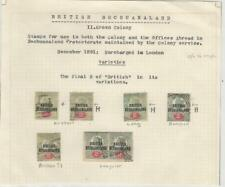 Bechuanaland Specialized Collection #34 Varieties of Overprints, Scarce