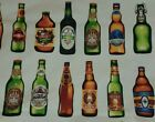 """1-1/2 Yards Cotton Fabric CHEERS #14751 Beer Bottles Stout Lager Craft Ale 44"""" W"""