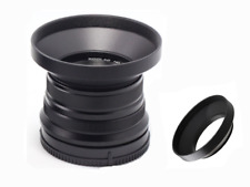 55mm Wide Angle Metal Lens Hood for Nikon Canon Sony Pentax Screw Mount Black