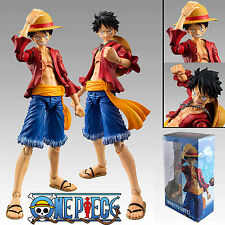 "Anime One Piece Monkey D Luffy New World Ver 7"" PVC Action Figure Toy New In Box"