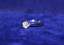 Platinum Jewellers 1ct Lab Simulated VVS Diamond Womens Solitaire Ring size 6
