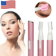 Women Electric Micro Facial Hair Eyebrow Trimmer Razor Blade Shaver Remover USA