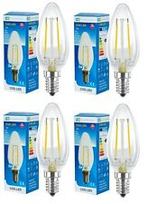 4 PACK 2W LED Candle Light Bulb E14 SES Warm White Replaces 30W Incandescent COG