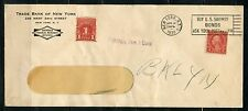 UNITED STATES 1939 SPECIAL DELIVERY  COVER TRADE BANK OF NEW YORK