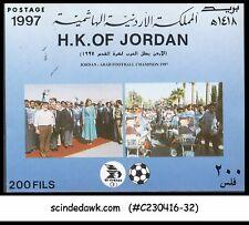 JORDAN - 1997 FOOTBALL CHAMPIONSHIP / SPORTS - MINIATURE SHEET MNH