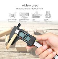 "6"" 150mm Carbin Fiber Electronic Digital Vernier Caliper Micrometer Guage LCD US"