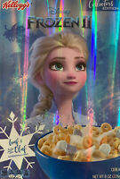 Frozen 2 FROZEN II Breakfast Cereal LIMITED COLLECTORS EDITION FOIL BOX Disney