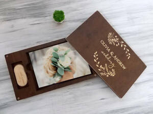 Wedding Photo Box Personalized Keepsake Box Wedding Memory Box Engraved USB