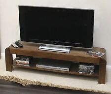 Shiro television cabinet low widescreen solid walnut dark wood furniture