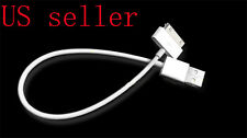 NEW Short 27cm USB Dock Station Charging Data Cable for iPod iPhone 3GS 4 4S
