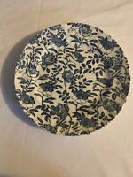"""Churchill Blue Peony Dinner Plates 9""""7/8 Made In England Floral Vintage Set 4"""