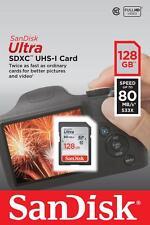 SanDisk Ultra 128GB SDXC Class 10 UHS-I , 80Mb/s , 128 GB San Disk