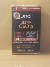 Qunol Ultra CoQ10 100mg, 3x Better Absorption  30 Softgels Exp: 02/2024