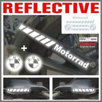 6x R1200GS Adventure 04-12 BMW Reflective White PARAFANGO POSTERIORE STICKERS
