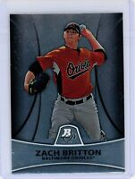 2010 Bowman Platinum Prospects #PP7 ZACH BRITTON RC Rookie (Orioles) NM
