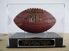 Football Case With A Green Bay Packers 4X Super Bowl Champions Nameplate