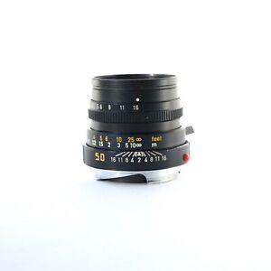 Leica SUMMICRON-M 50mm f/2  rangefinder Lens black ver IV 11826 canada