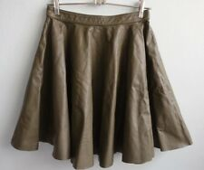 Aje NWT Khaki Leather Full Circle Skirt sz 10