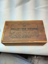 Antique Diamond Chips  Clay Poker Chip Box