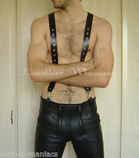 Leather Pants-Carrier with Trousers Suspenders from Braces