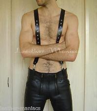 Lederhosenträger zur Lederhose Hosenträger aus Leder Suspenders Leather cuir