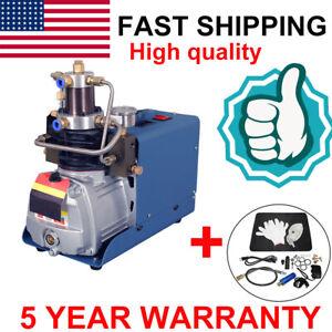 30MPA 4500PSI High Pressure Air Compressor PCP Airgun Scuba Air Pump 110V 1.8KW