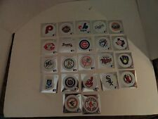 LOT OF 22 DIFFERENT - 1991 FLEER  BASEBALL LOGO  STICKERS - NM/M - FREE SHIPPING