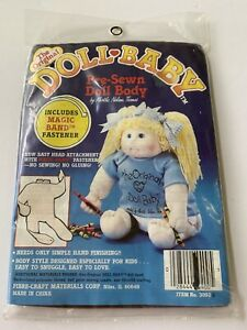 Vintage Fibre Craft Doll Baby Pre-sewn Brown Doll Body Kit