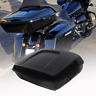 """10.7"""" Chopped Pack Trunk For Harley Tour Pak Touring Road King 2014-2019 Black"""