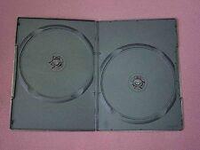 100 NERO DOPPIO CUSTODIA DVD SLIM 7mm DORSO NUOVO VUOTO copertura regolari