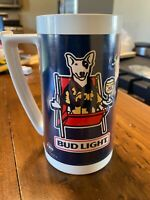 Vintage Bud Light Beer Spuds Mackenzie Thermo Serv Insulated Plastic Cup Mug