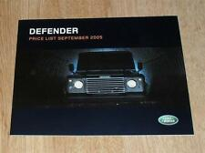 Land Rover Defender Price List 2005 90 110 Pick Up Station Wagon County XS 2.4D