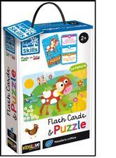 Lisciani Life Skills Flash Card&Puzzle La Fattoria 2+ Giochi Educativi
