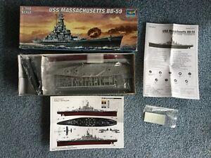 Trumpeter 1/700 USS Massachusetts BB-59 model kit #05761