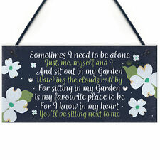 Garden Memorial Hanging Plaque SummerHouse Garden Shed Sign Gifts For Mum Nan