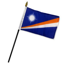"Wholesale Lot of 12 Marshall Islands 4""x6"" Desk Table Stick Flag"