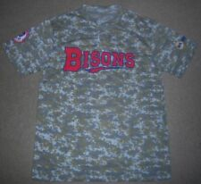 RARE New AUTHENTIC Replica BUFFALO BISONS Camo/CAMOUFLAGE JERSEY Shirt M l