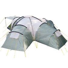 Tiendas de campaña verde de 10 personas para acampada y senderismo